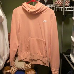 Peach/pink Nike sweatshirt